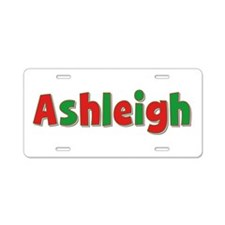 Ashleigh Christmas Aluminum License Plate