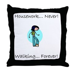 Walking Forever Throw Pillow