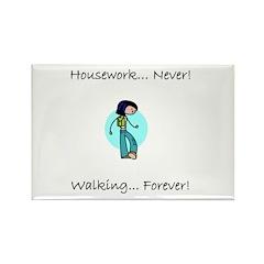 Walking Forever Rectangle Magnet (100 pack)