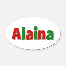 Alaina Christmas Oval Car Magnet