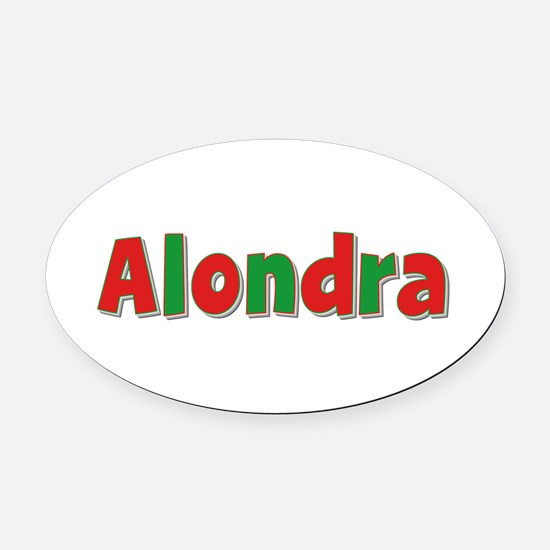 Alondra Christmas Oval Car Magnet