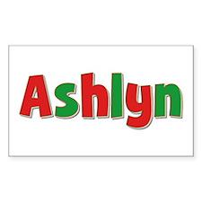 Ashlyn Christmas Rectangle Decal