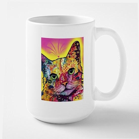 Psychadelic Cat Large Mug