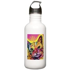 Psychadelic Cat Sports Water Bottle