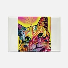 Psychadelic Cat Rectangle Magnet