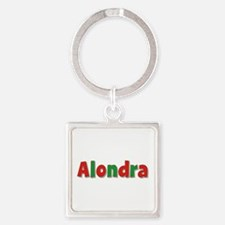 Alondra Christmas Square Keychain