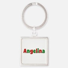 Angelina Christmas Square Keychain