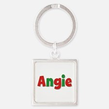 Angie Christmas Square Keychain