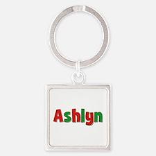 Ashlyn Christmas Square Keychain