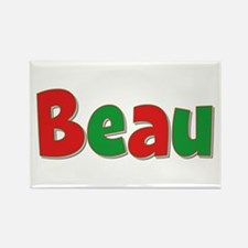 Beau Christmas Rectangle Magnet