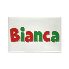 Bianca Christmas Rectangle Magnet
