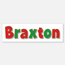 Braxton Christmas Bumper Car Car Sticker
