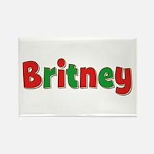 Britney Christmas Rectangle Magnet