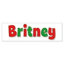 Britney Christmas Bumper Bumper Sticker