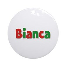 Bianca Christmas Round Ornament