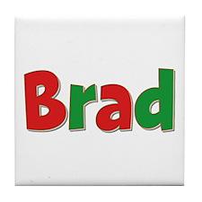 Brad Christmas Tile Coaster