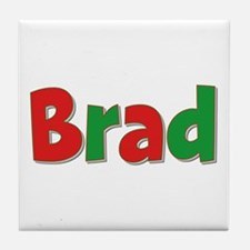 Brad Christmas Tile Coaster