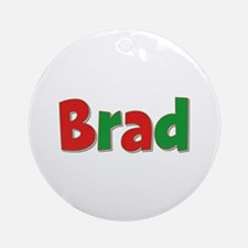 Brad Christmas Round Ornament