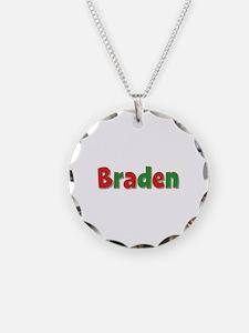 Braden Christmas Necklace Circle Charm