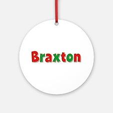 Braxton Christmas Round Ornament