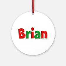 Brian Christmas Round Ornament