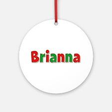 Brianna Christmas Round Ornament