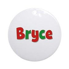 Bryce Christmas Round Ornament