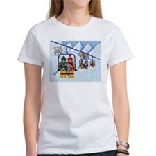 Cats Riding Ski Lift Tee