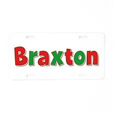 Braxton Christmas Aluminum License Plate