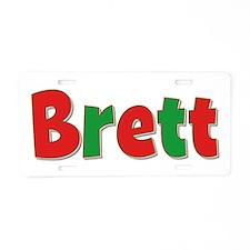 Brett Christmas Aluminum License Plate