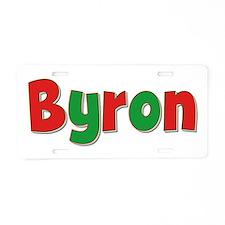 Byron Christmas Aluminum License Plate