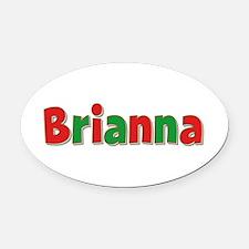 Brianna Christmas Oval Car Magnet
