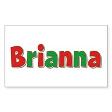 Brianna Christmas Rectangle Decal