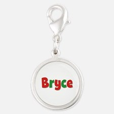 Bryce Christmas Silver Round Charm
