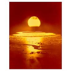 Bikini Atoll atomic bomb explosion 1946 Poster