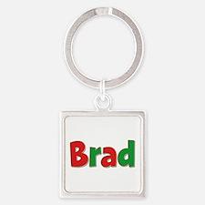 Brad Christmas Square Keychain