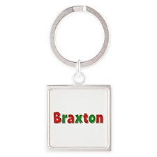Braxton Christmas Square Keychain