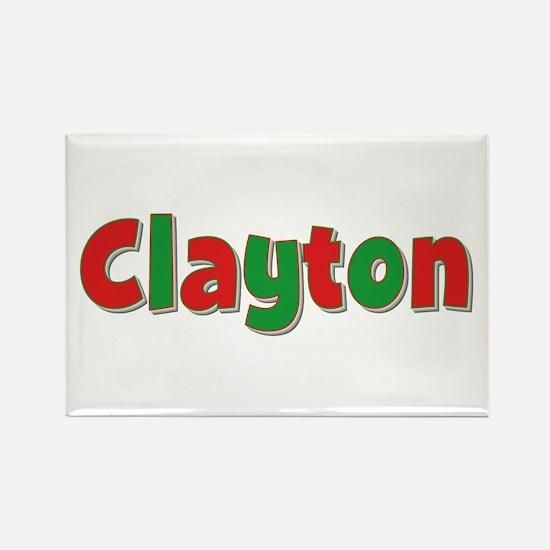Clayton Christmas Rectangle Magnet