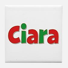 Ciara Christmas Tile Coaster