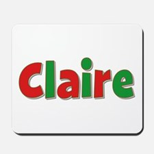 Claire Christmas Mousepad