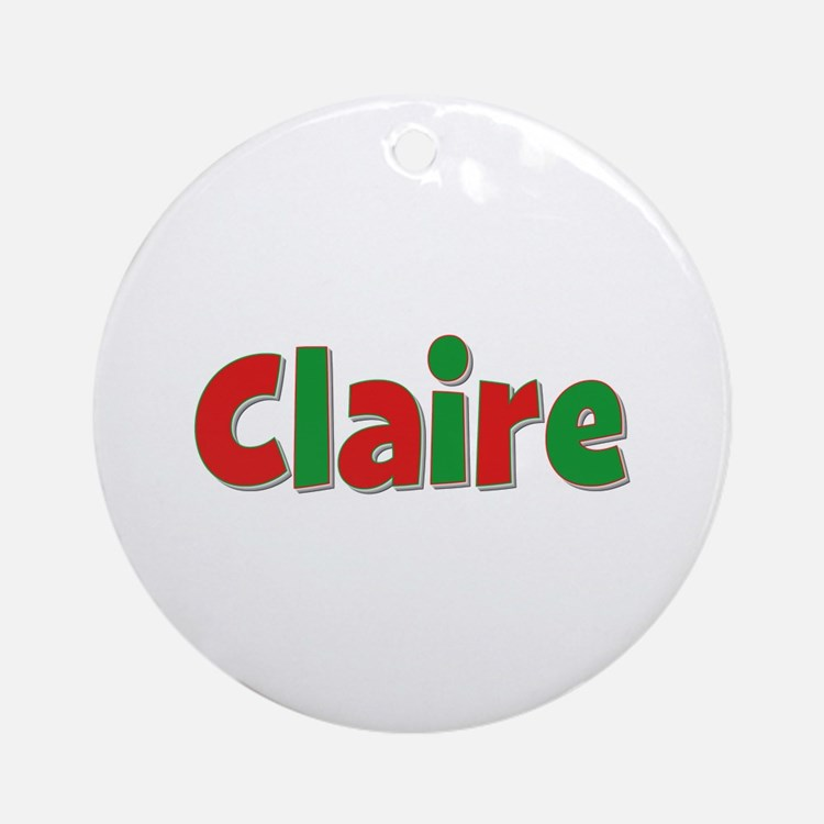 Claire Christmas Round Ornament