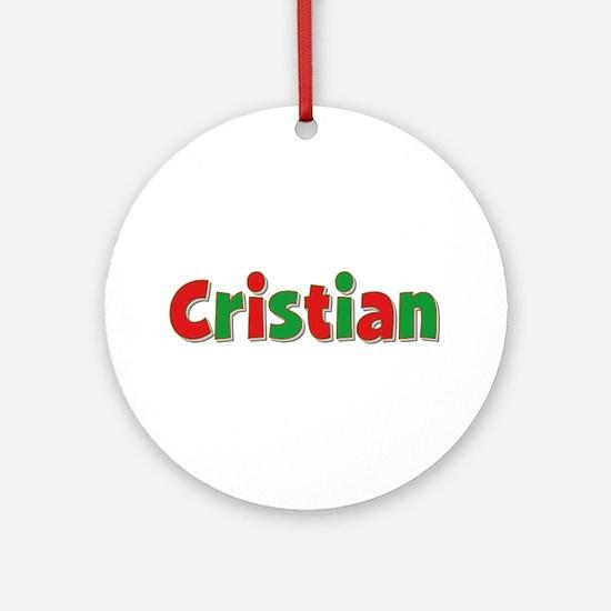 Cristian Christmas Round Ornament