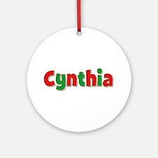 Cynthia Christmas Round Ornament
