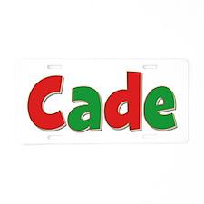 Cade Christmas Aluminum License Plate