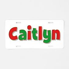 Caitlyn Christmas Aluminum License Plate