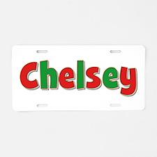 Chelsey Christmas Aluminum License Plate