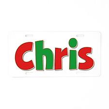 Chris Christmas Aluminum License Plate