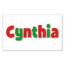 Cynthia Christmas Rectangle Decal