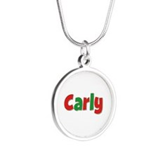 Carly Christmas Silver Round Necklace