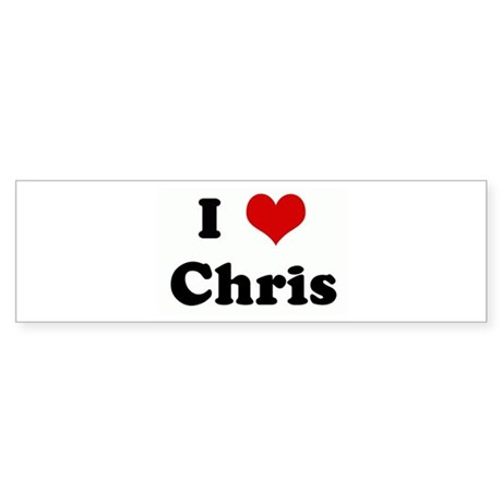 I Love Chris Bumper Sticker